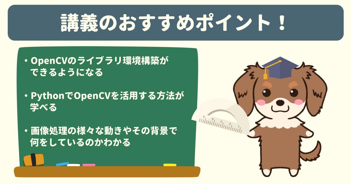 【Udemy感想】Pythonで学ぶ!OpenCVでの画像処理入門のおすすめポイント