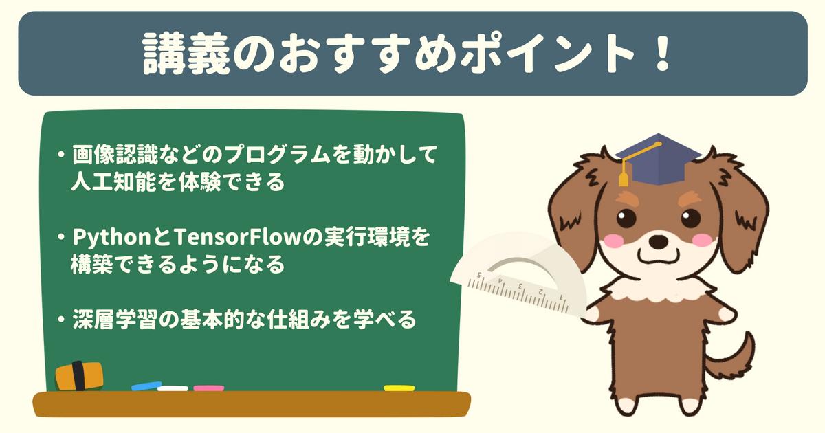 【Udemy感想】4日で体験! TensorFlow x Python 3 で学ぶディープラーニング入門のおすすめポイント