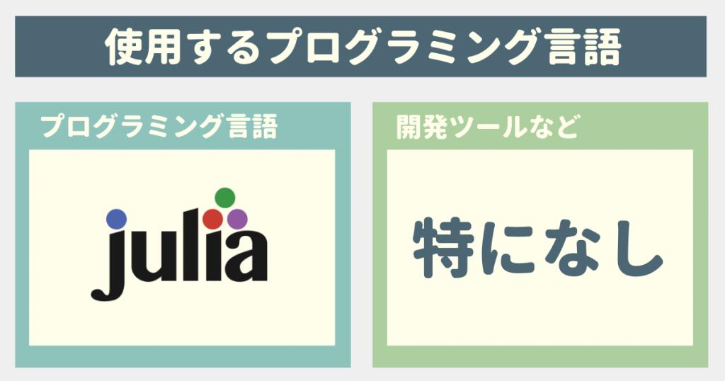 プログラミング言語Julia講座を学ぶ際の事前準備